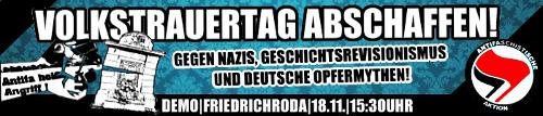Volkstrauertag abschaffen!